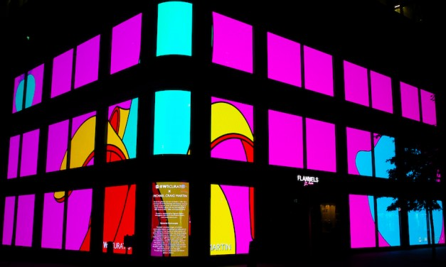Michael Craig-Martin's public artwork on Oxford Street